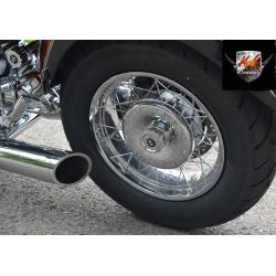 Хромированная крышка-колпак ступицы заднего колеса